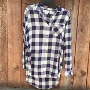 BP blue plaid shirt size M long sleeve